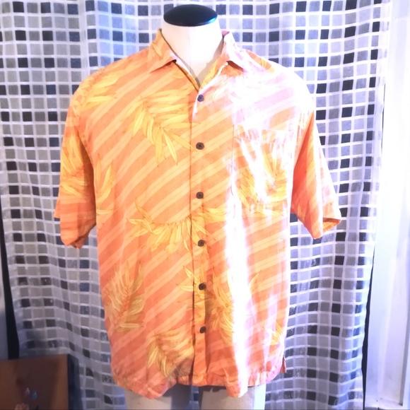 e68cb96f Tommy Bahama Shirts | Silk Orange Hawaiian Shirt | Poshmark